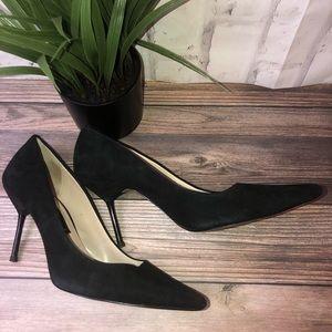Zara black vegan suede 3@ heels. Size 9